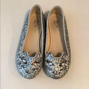 Like New Girls Glitter Flats! Sz12 Gap Kids